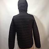 М, Л р. Чоловіча весняна куртка легка чорна демісезонна маломеркі, фото 10