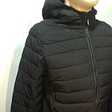 М, Л р. Чоловіча весняна куртка легка чорна демісезонна маломеркі, фото 2