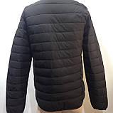 М, Л р. Чоловіча весняна куртка легка чорна демісезонна маломеркі, фото 9