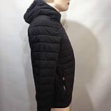 М, Л р. Чоловіча весняна куртка легка чорна демісезонна маломеркі, фото 5