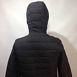 М, Л р. Чоловіча весняна куртка легка чорна демісезонна маломеркі, фото 6