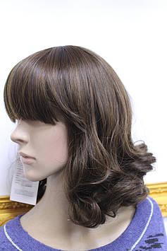 Искусственный парик короткая стрижка с челкой волнистые черно рыжий