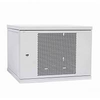 Шкаф коммутационный настенный 15U 600x450 перфорированная дверь, фото 1