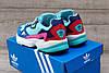 Подростковые, детские кроссовки Adidas Falcon W (MINT/ PINK / BLUE) BB9180, фото 2