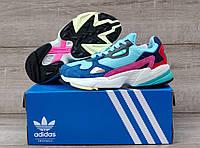 Подростковые, детские кроссовки Adidas Falcon W (MINT/ PINK / BLUE) BB9180