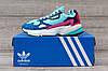 Подростковые, детские кроссовки Adidas Falcon W (MINT/ PINK / BLUE) BB9180, фото 3