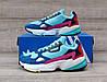 Подростковые, детские кроссовки Adidas Falcon W (MINT/ PINK / BLUE) BB9180, фото 6