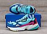 Подростковые, детские кроссовки Adidas Falcon W (MINT/ PINK / BLUE) BB9180, фото 7