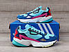 Подростковые, детские кроссовки Adidas Falcon W (MINT/ PINK / BLUE) BB9180, фото 8