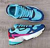Подростковые, детские кроссовки Adidas Falcon W (MINT/ PINK / BLUE) BB9180, фото 10
