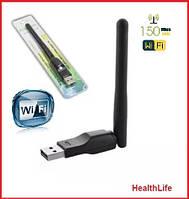 USB WiFi адаптер для ноутбуков, Вай фай антенна, T2, Ralink, MTK MT7601 wifi антена