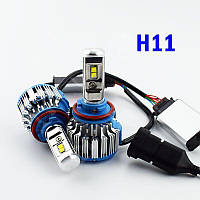 Комплект LED ламп TurboLed T1 H11 6000K 50W 12/24v CanBus с активным охлаждением