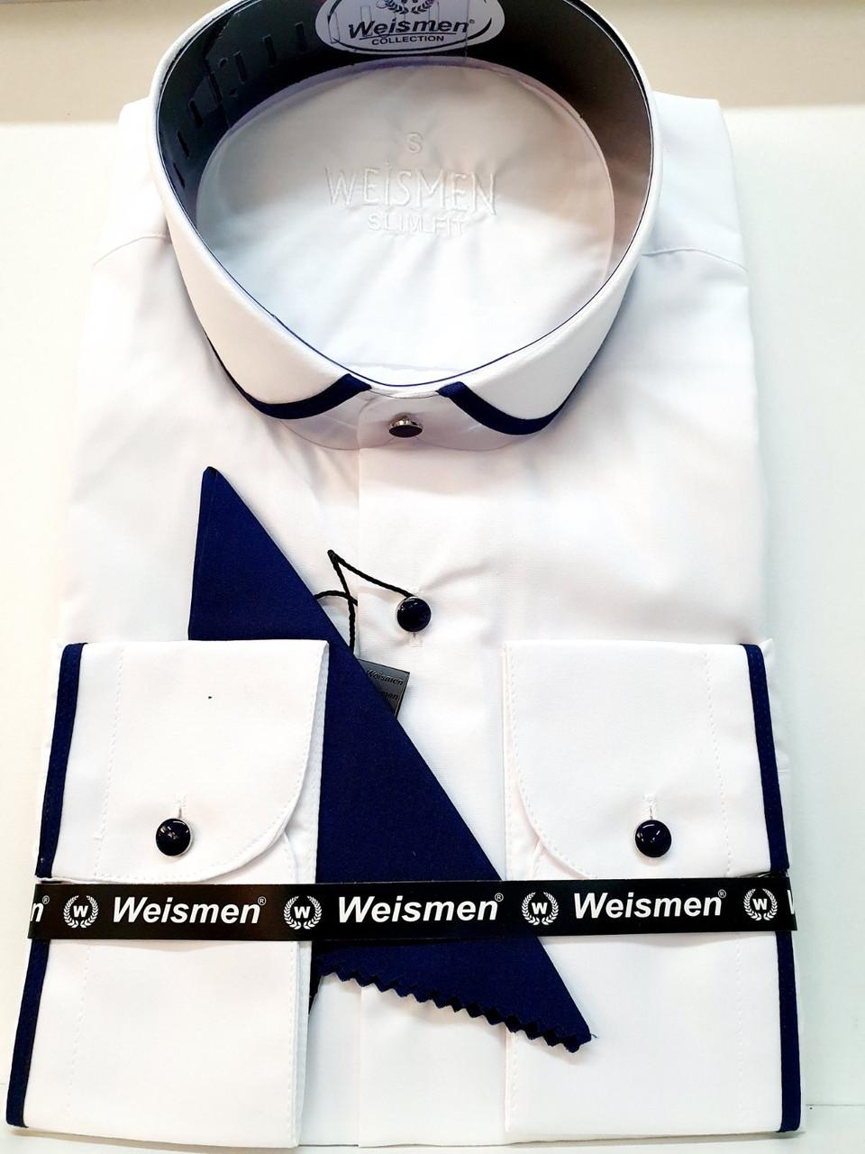 Однотонна сорочка з довгим рукавом Weismen