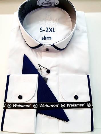 Однотонная рубашка с длинным рукавом Weismen, фото 2