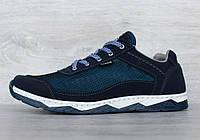 Кросівки чоловічі літні сітка синього кольору кросовки  (Кс-16сн)