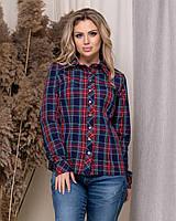 Рубашка женская клетка 60130, фото 1