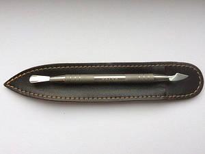 OLTON лопатка маникюрная двухстороняя (пушер + топорик)