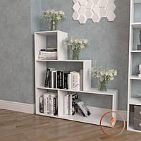 Полка для книг, стеллаж для дома на 4 ячейки. ДСП. P0005
