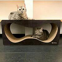 """Когтеточка для кота, лежаки для кошек, царапки, дряпки с деревянными фасадами """"Гранж"""" ТМ """"Cat Joy"""