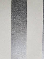 Обои виниловые на флизелиновой основе  Marburg 31377 Origin метровые полосы широкие молочные серебристые