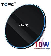 Оригінальний безпровідний зарядний пристрій Micro TOPK Чорний і білий колір.