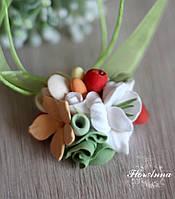 """Кулон с цветами из полимерной глины """"Яркие ароматы"""", фото 1"""