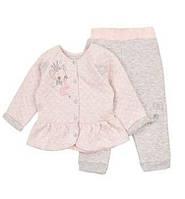 Теплый детский костюм из капитона для девочки 74-92 р