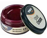 Крем - краска для обуви и изделий из кожи бордовый Trg Shoe Cream, 50 мл