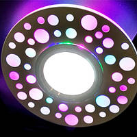 Встраиваемый точечный светильник с цветной RGB подсветкой (два источника света) Feron CD989