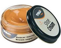 Крем - краска для обуви и изделий из кожи карамель Trg Shoe Cream, 50 мл