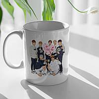 Чашка подарочная с прикольным фото и надписью BTS