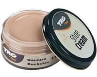 Крем - краска для обуви и изделий из кожи кофе с молоком Trg Shoe Cream, 50 мл