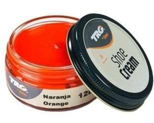 Крем-краска для обуви и изделий из кожи Trg Shoe Cream, 50 мл, 128 Orange (оранжевый)