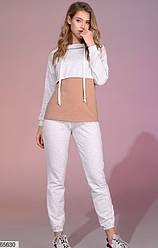 Спортивный костюм женский светло-серый 65630