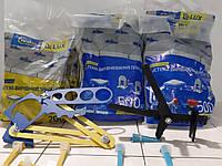 СВП Система выравнивания плитки СВП LUX 1 мм 1000 зажимов + 400 клиньев + шаблон + инструмент