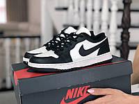 Кроссовки Весна Женские Белые с Черным в стиле Nike Air Jordan 1 Low