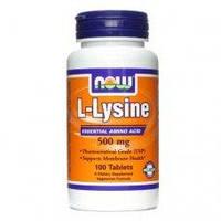 Now Foods L-Lysine, 500 mg - 100 ТАБ, фото 1