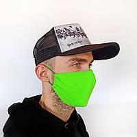 Маска защитная на лицо многоразовая 2-х слойная