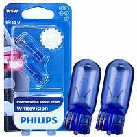 Лампы накала Philips W5W Blue vision