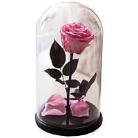 Роза в колбе с LED Большая розовая №A78