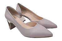 Туфли женские Aquamarin натуральная кожа, цвет серый, размер 36-40 Турция