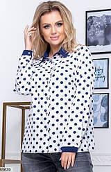 Блузка женская XL+ белая 65639