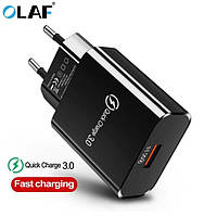 Быстрая зарядка Qualcom 3.0 Fast Charger 3.5A, зарядное устройство + кабель Type C, micro USB