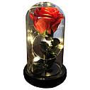 Роза в колбе с LED подсветкой Маленькая - Красная, фото 2