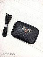 Сумочка женская маленькая сумка клатч экокожа черная 10871