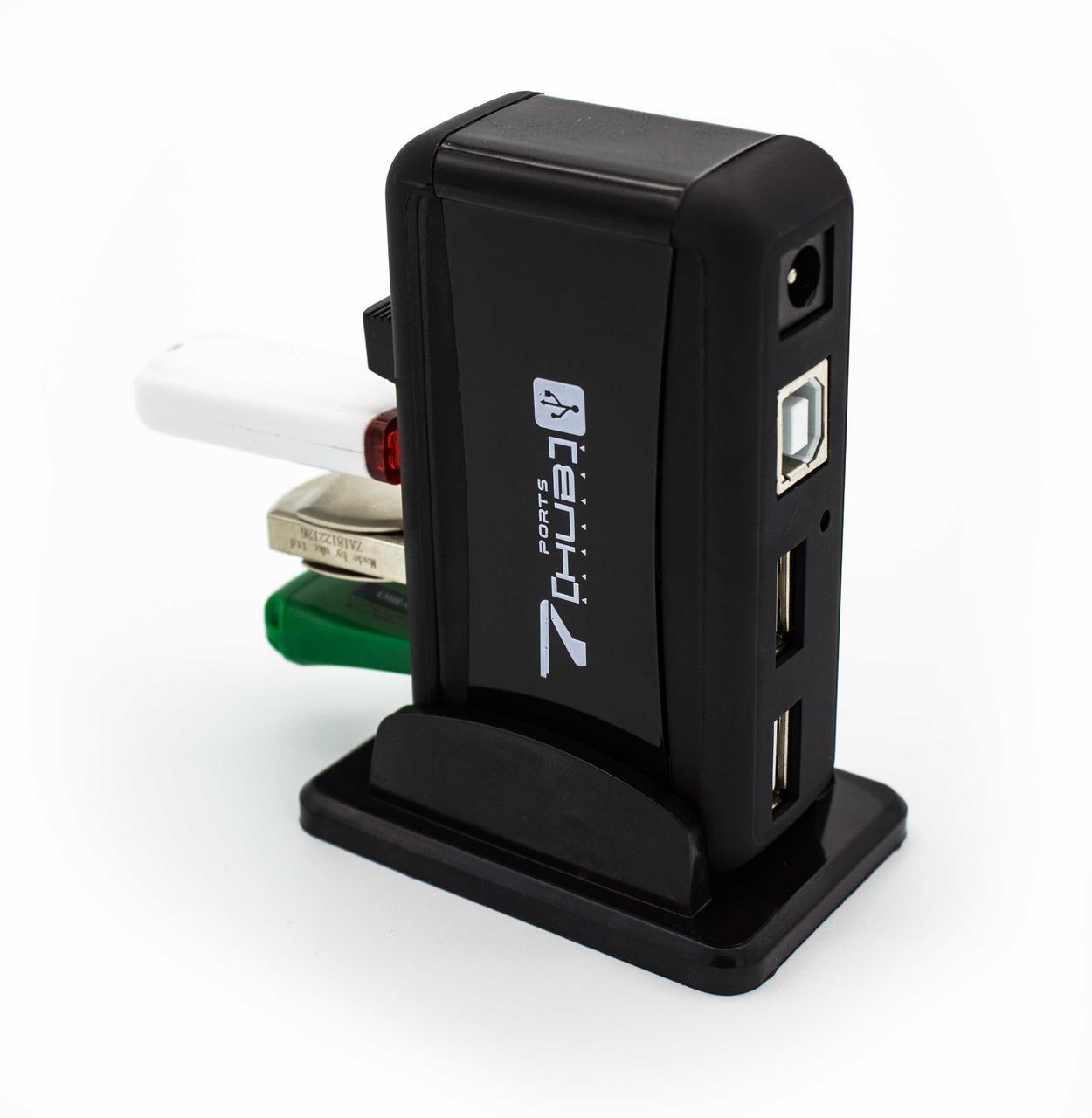 USBHUB на 7 портов Lapara  USB 2.0 с блоком питания