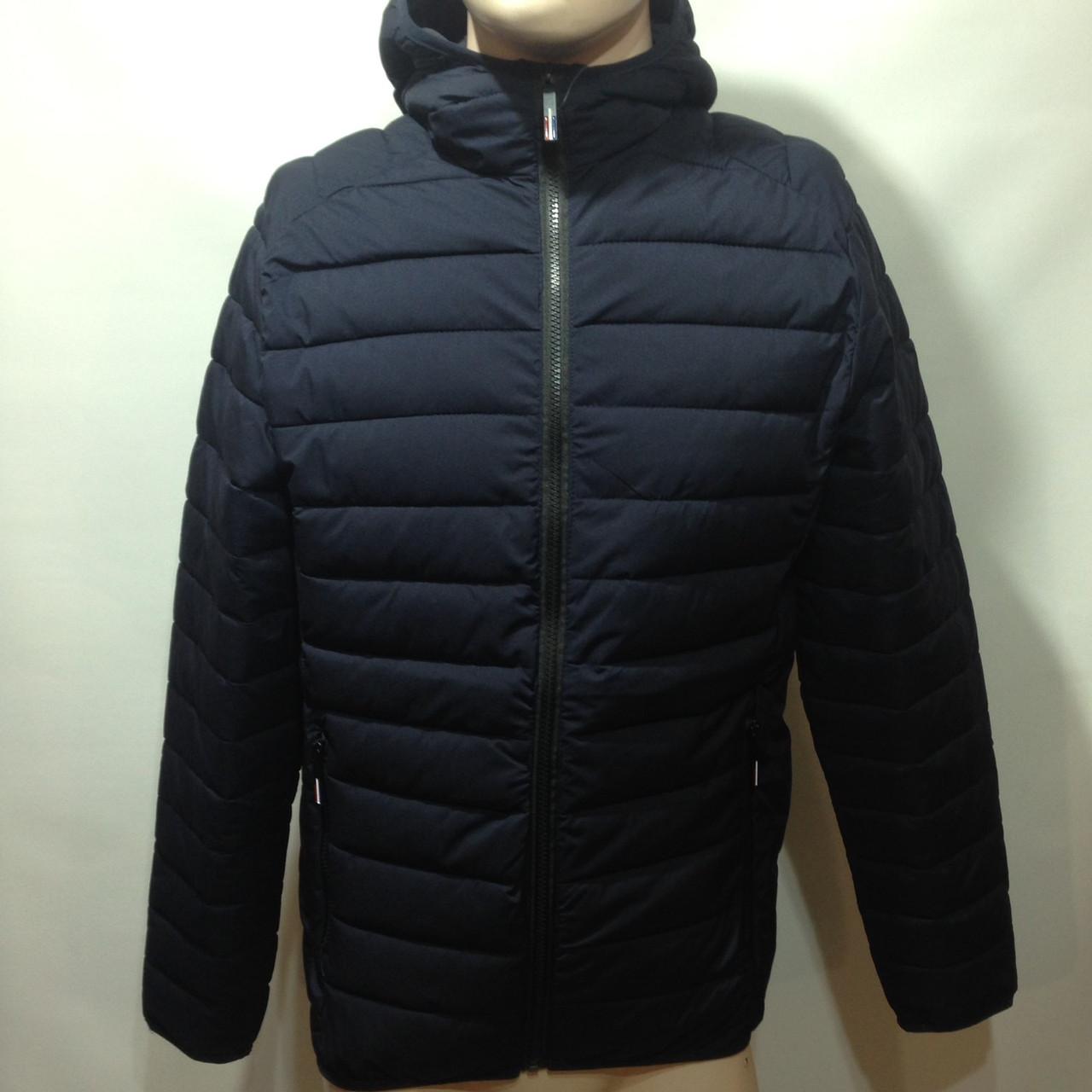 Мужская весенняя  куртка легкая синяя демисезонная куртка