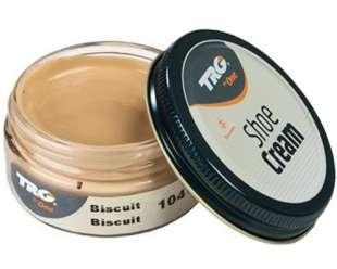 Крем-краска для обуви и изделий из кожи Trg Shoe Cream, 50 мл, 104 Biscuit (бисквит)