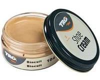 Крем - краска для обуви и изделий из кожи темно бежевый Trg Shoe Cream, 50 мл
