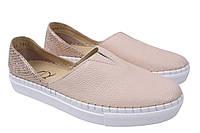 Туфли женские Aquamarin натуральная кожа, цвет бежевый, размер 36-40 Турция